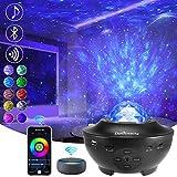 Delicacy WiFi LED Sterrenhemel Projector, Oceaangolf Nachtlampje Projector met Bluetooth, Roterende Nevel Projector met Timer en Afstandsbediening, voor Kinderen Volwassenen Woondecoratie Geschenk