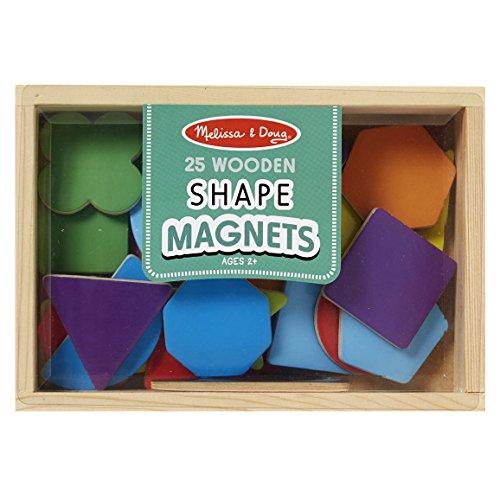 Melissa & Doug 19277 - 25 Hölzerne Magneten in Verschiedenen Formen