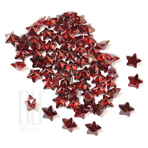 Be You Grenat Couleur Zircone Cubique AAA Qualité Diamant Coupe d'étoile Forme gemme