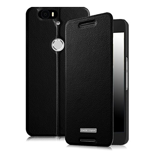 Fintie Nexus 6P Hülle - Premium Flip Cover Handytasche im Bookstyle mit Standfunktion und Card Holder Wallet Case für Huawei Nexus 6P , Schwarz