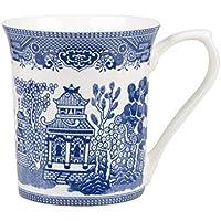 Churchill Azul Del Sauce Taza Fina Porcelana Azul (Paquete de 2)
