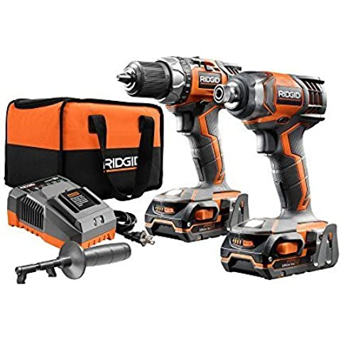 RIDGID X4 18-Volt Lithium-Ion Cordless Drill and Impact Driver Combo Kit (2-Tool) by (Cordless Impact Driver Kit)