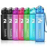 ZOUNICH Sport Trinkflasche BPA frei Auslaufsicher Wasserflasche 500ml/700ml/1L Kunststoff Geeignet Sporttrinkflaschen für Joggen, Fahrrad, Kinder Schule,öffnen mit...