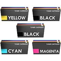 Prestige Cartridge Kit 5 Toner Compatibili con Stampanti Laser Canon i-SENSYS/HP Colour LaserJet, 1 Set più Uno Nero, Multicolore