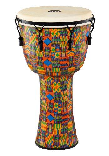 """Meinl PMDJ2 20,32 cm (8"""")-S-G-Tamburo Djembe, serie Tuned da meccanico con testa di capra, motivo: Kenyan Quilt"""