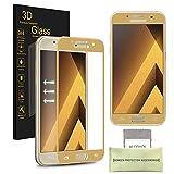 Samsung Galaxy A7 (2017) Pellicola Protettiva, AKPATI Temperato di Protezione in Vetro Dello Schermo 3D Toccare Alta Definizione Anti-Explosion Schermo Protezione - Oro