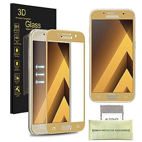 Samsung Galaxy A5 (2017) Gehärtetes Glas-Schirm-Schutz, AKPATI Glasfolie Displayschutzfolie Schutzglas 9H Härte High Definition Bubble Free Anti-Kratzer gehärtetes Glas -