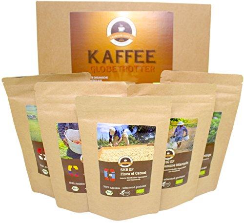 Kaffee Globetrotter - Bio-Box Mittel Gemahlen - für Kaffee-Filter-Maschine, Handfilter, Dripper,...