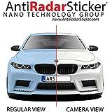 Anti Radar Sticker Radar anti etiqueta engomada anti Del radar para placas de matrícula de los vehículos - 7 pegatinas en un solo paquete - imagen bloqueador del radar de velocidad - negro