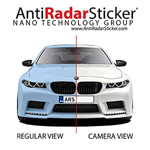 anti radar sticker for vehicle registration license plates 1 kit 6 stickers speed. Black Bedroom Furniture Sets. Home Design Ideas