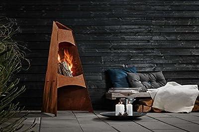 Redwood Denmark Garden Chiminea Corten Steel Fire Pit Patio Heater Garden Chimenea by Redwood Denmark