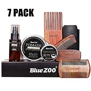 Famed Premium Bartpflege-100 Bio-Bartöl, 60 ml Haarpflegeöl (Köln) und 30 g Bartcreme, Friseurschere und Styling-Tool in Einer Reisetasche   Ideal für die Bartpflege