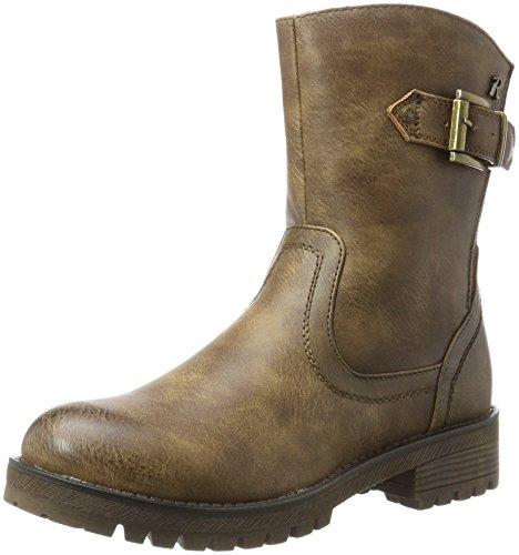 XTI Damen 063173 Biker Boots Braun (Taupe)