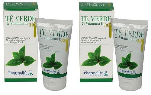 Pharmalife – Crème Cire TE 'vert & Vitamine et 2 conf de 75 ml – Cuir impures, séchées, vieillissement précoce, acné