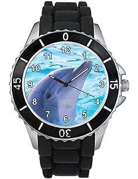 Delfin Damenuhr Herrenuhr - Unisex mit Silikonarmband