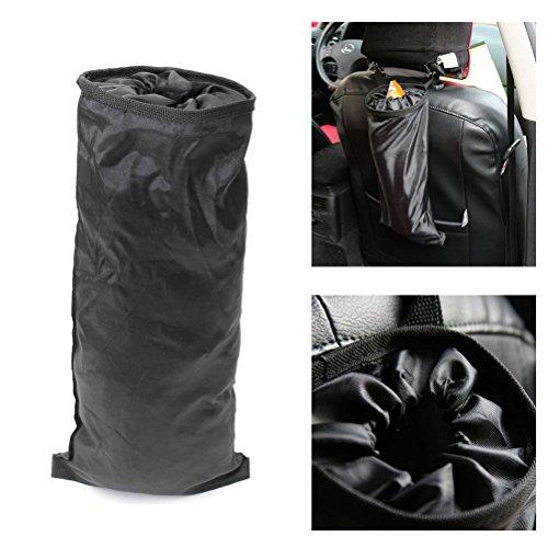 WINOMO Asiento de coche bolsa de basura Asiento trasero del vehículo coches Asiento cabeza Basura Bolso (Negro)