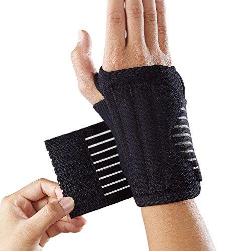 LP Support 552 Handgelenkorthese - Handgelenk-Schiene - Handgelenk-Bandage - Sport-Bandage, Farbe:schwarz, Größe / Seite:M / Rechts - Schiene Rechts Farbe