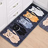 Generic diseño de gato amarillo, 60x 40cm: 1pcs Pasillo bienvenida alfombrillas Animal Cute diseño de gatos baño cocina alfombra casa Doormats sala de estar antideslizante tapete alfombra