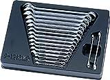 King Tony 91218MR - Llave combinada para el carro de herramientas, conjunto de 18