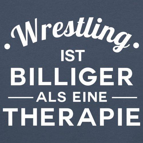 Wrestling ist billiger als eine Therapie - Herren T-Shirt - 13 Farben Navy