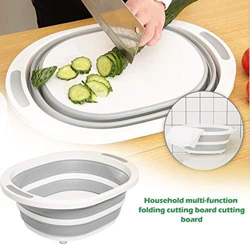 Ingeniously Küchenschneidebrett für die Küche Kunststoff Klappbecken Haushalt Multifunktionsform Mehltau Brett Schneiden Gemüse Obst Waschbecken Abflusskorb Multifunktionsklappschneidebrett (Waschbecken über Schneidbretter Dem Für)