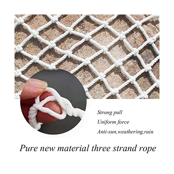 """Protective Netting,Balcony Safety Baby Banister Child Stair Stairs Dog Rail Pet Mesh Net Railing Guard Block for Gate Kids Lacrosse Softball Archery Netted Golf Ball Goal Backstop Net Netting Nets  ★Material of the kids protective netting: pure polyester. ★Mesh size*rope diameter: 8cm*6mm(3""""*15/64) , 8cm*8mm(3""""*5/16).Length*width: please make purchase according to your actual needs.We have any other size (rope diameter, mesh, length * width) rope net, support customization.If you have any questions or needs, please contact us. ★Multi-use protection net:family balcony and railing balcony stairs safety net banister stair anti-cat climbing, anti-high fall and other intensive protection; wall ,home, theme party hotel, guesthouse, cafe, bookshop, restaurant, decoration,hanging ect. 2"""