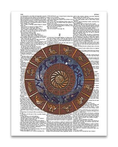 Per Diem Printing Cosmic Sternzeichen Wörterbuch Kunstdruck (Gemini-schiff)