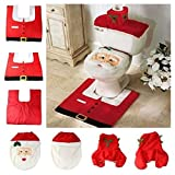 Unicoco WC-Sitzbezug und -Teppich-Set mit Weihnachtsmotiv als Dekoration oder Geschenk