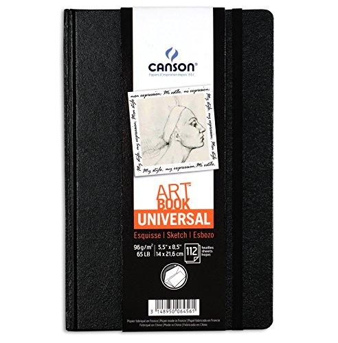 Canson Art Book Universal - Cuaderno de dibujo, 14 x 21.6 cm, color negro