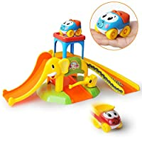 GizmoVine Baby Toys Toddler Car Toys Ramp Toys for 2 years Old Boys , Elephant Parking lot Slide Assembly baby sensory toys Infant Early Education Puzzle Track