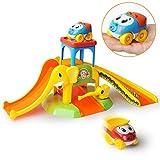 GizmoVine Kinderspielzeug 2 Jahr Spielzeugauto Elefantenparkplatz für 2, 3, 4, Jährige