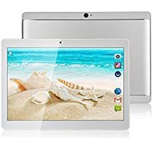 bestenme 10Inch Tablet PC Android 7.0Octa Core 64GB ROM 4G RAM Tablets PC Dual SIM Card Phone Call IPS 3G GPRS WIFI 7Silvery