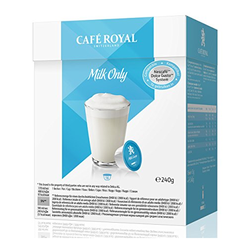 Café Royal Milk Only, 6er Set, Milch für Kaffee, Milchkapsel Nescafé Dolce Gusto Kompatibel, Eisblau, 96 Kapseln
