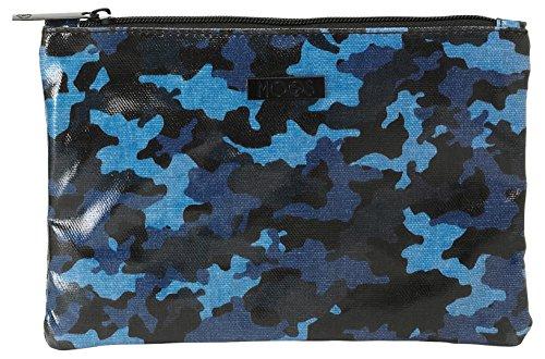 safta- Neceser Plano Mediano Color Azul, Negro, 22 cm (861638690)