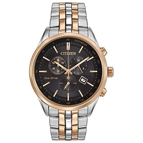 Citizen orologio cronografo solare uomo con cinturino in acciaio inox at2146-59e