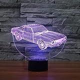 Voiture cadeau électronique créatif lumière stéréo 3D Veilleuse USB Veilleuse 3D