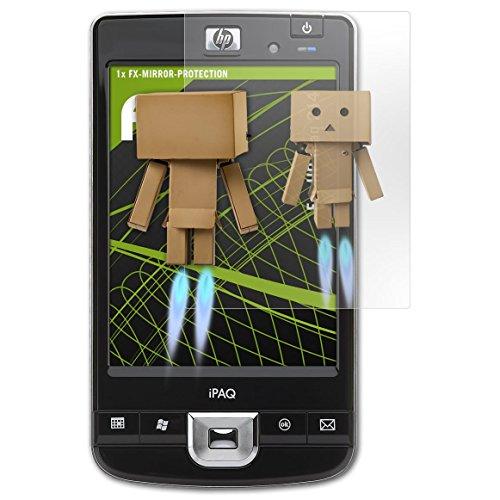 atFoliX Displayfolie kompatibel mit HP iPaq 214 Spiegelfolie, Spiegeleffekt FX Schutzfolie -