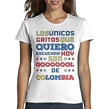 latostadora - Camiseta Colombia Gooool para Mujer