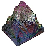 #10: Reiki Crystal Products Feng Shui Vastu Crystal Rock Pyramid with Amazing Colorful Rainbow View Showpiece