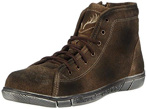 TrachtenRebell Charlie, Herren Hohe Sneakers, Braun (Eiche Antik), 43 EU