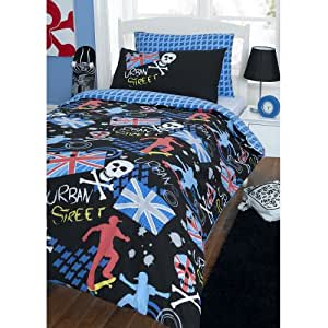 parure housse de couette urban street skate linge de lit. Black Bedroom Furniture Sets. Home Design Ideas