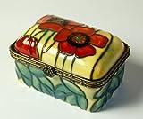"Old Tupton Ware Art Deco ""Yellow Poppy"" Design Oblong Trinket Box"