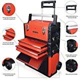 US PRO TOOLS Organizador de herramientas, plástico y acero, color rojo, 3 en 1