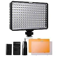SAMTIAN professionnel vidéo LED TL-160 est spécialement conçu avec 160pcs conduit, piles compatibles NP-F970 / F770 / F570 / F550, beaucoup plus lumineux, affichage de puissance, fournir des images photographiques de force et de clarté. Il pourrait f...