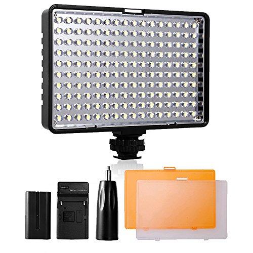 Video Licht LED,SAMTIAN Videoleuchte Videolampen Videobeleuchtung für Canon Nikon Pentax Olympus Panasonic Samsung DSLR-Kameras JVC DV Camcorder Kameralicht Panel