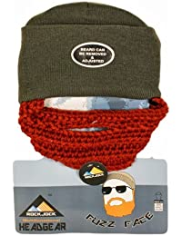 Official Rock Jock Fuzz Face Beard Beanie Hat - Bearded Beanie Hat - Several Colours Available