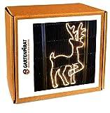 Neon-Lichtschlauchfiguren mit LED beleuchtet zur Deko Weihnachten außen (Rentier 83x48)