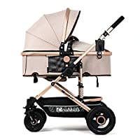 YBL City Four Rounds Bidirectional prams fold Baby pushchairs High Landscape Toddlers Newborn Strollers Can sit and Lie Down from Birth