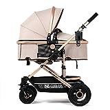 YBL trendy bébé poupée ombrelle poussette inclinable pliage canne landau Avec porte-gobelet et assiette de repas Implémentation bidirectionnelle