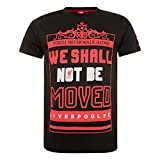 FC Liverpool Shall Not To Be Moved T-Shirt (black, L)